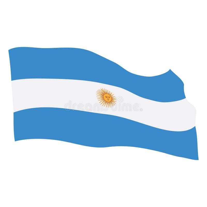 argentina flagę royalty ilustracja
