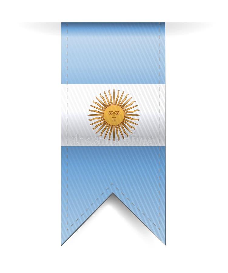 Argentina flag banner illustration design royalty free illustration