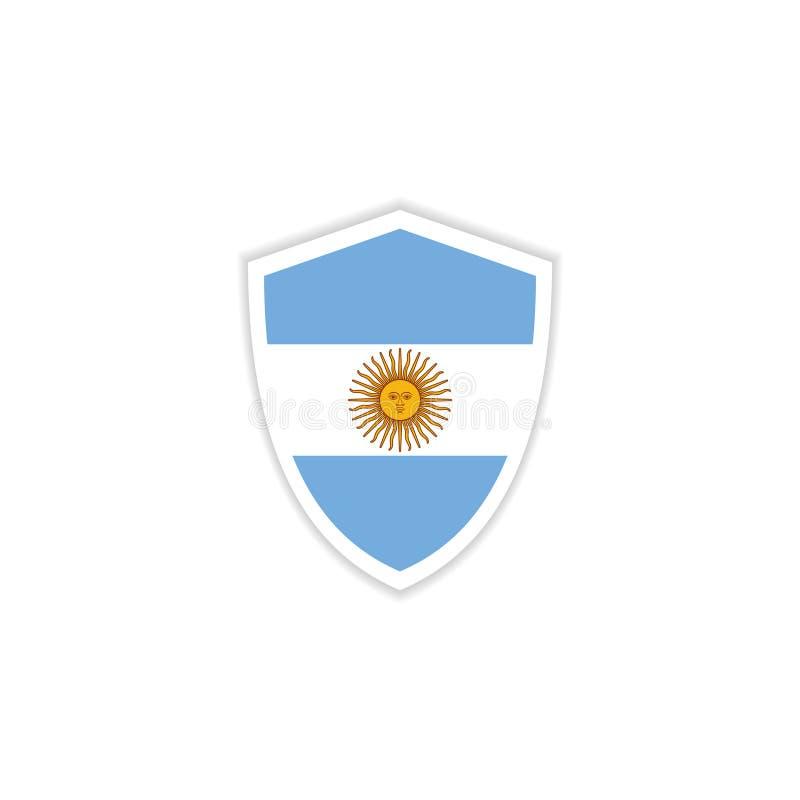 Argentina Flag Emblem Vector Template Design Illustration vector illustration