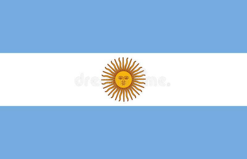 Argentina flag. Official proportion. Correct colors. Vector vector illustration