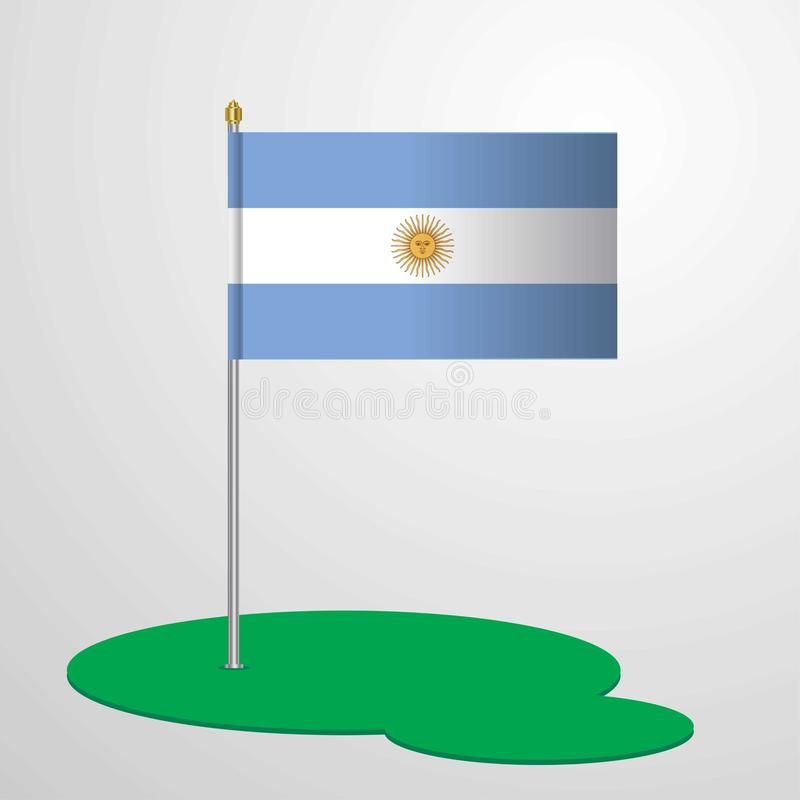 Argentina Flag Pole. This Vector EPS 10 illustration is best for print media, web design, application design user interface and infographics with well vector illustration