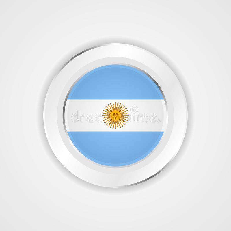 Argentina flag in glossy  icon. royalty free illustration