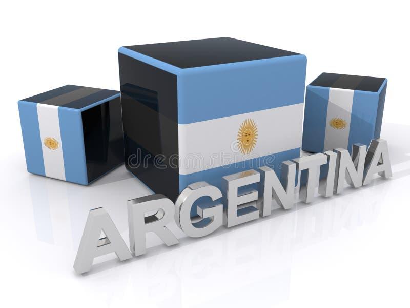 argentina flaga royalty ilustracja