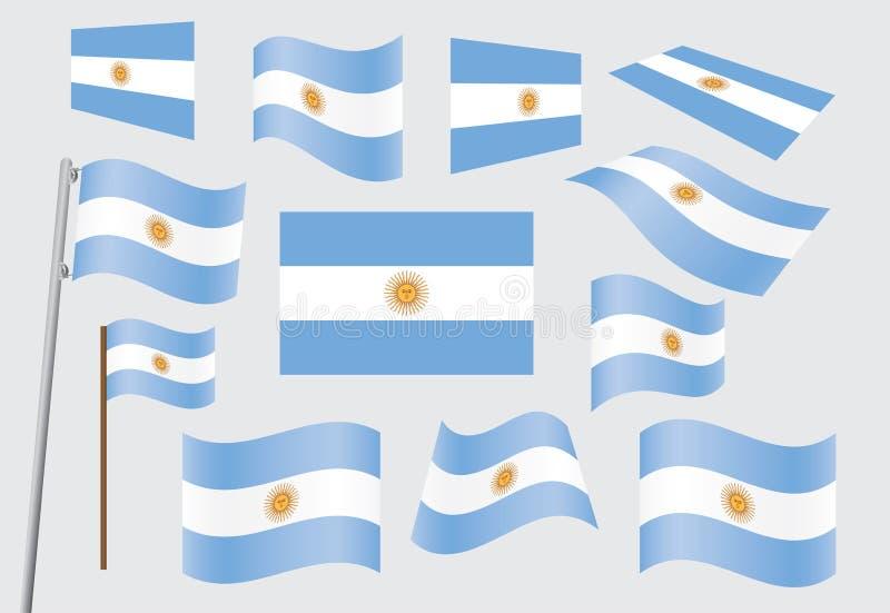 argentina flaga ilustracji