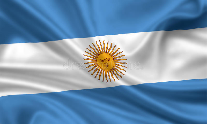argentina flagga stock illustrationer
