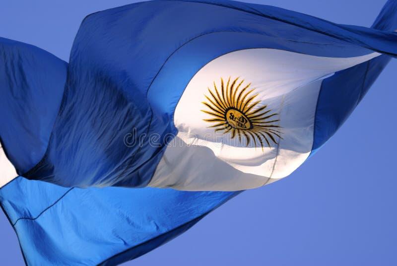 argentina flagga royaltyfria bilder