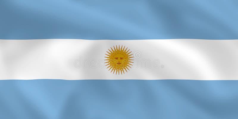 argentina flagga stock illustrationer