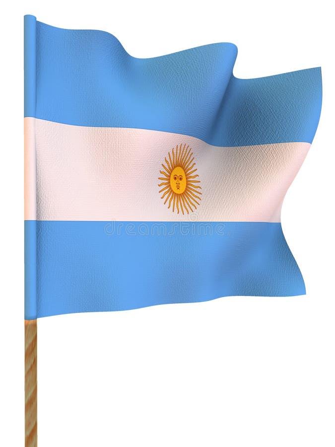 argentina flagga vektor illustrationer