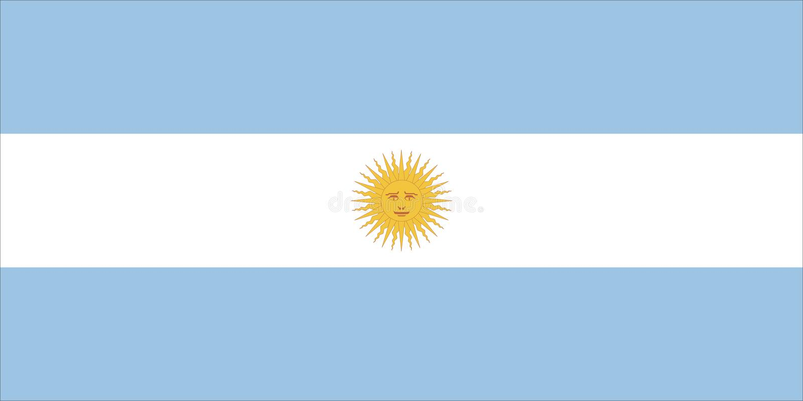 argentina flagga vektor illustrationer