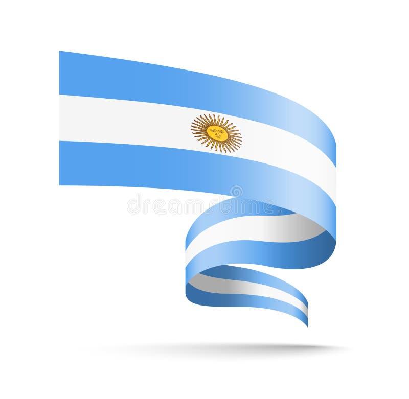 Argentina flagga i form av vågband vektor illustrationer