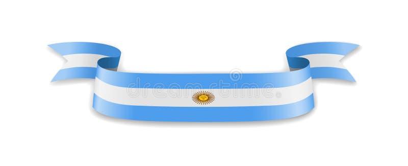 Argentina flagga i form av v vektor illustrationer