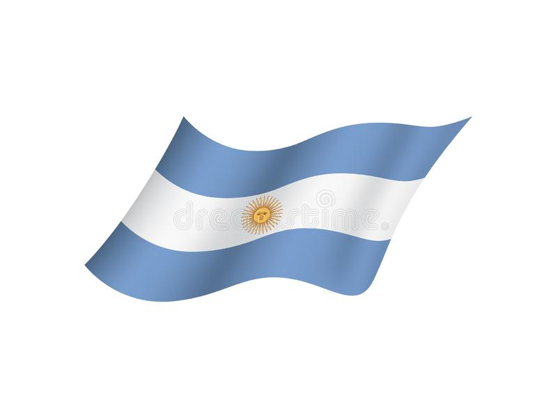 Argentina flagga, isolerad nationsflagga av Argentina stock illustrationer