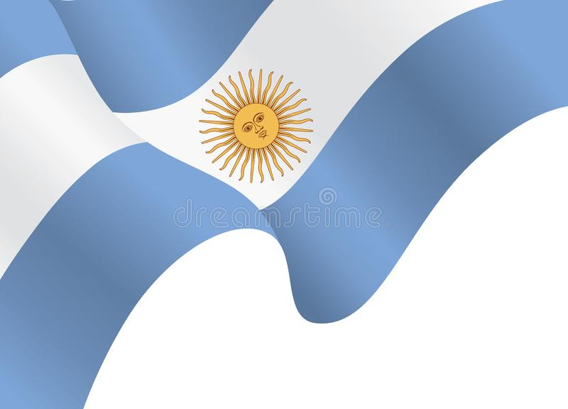 Argentina flagga, nationsflagga av Argentina bakgrund royaltyfri illustrationer
