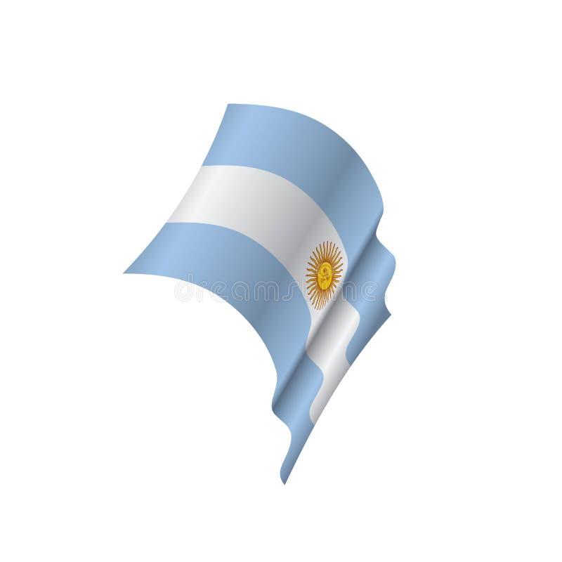Argentina flagga, vektorillustration vektor illustrationer