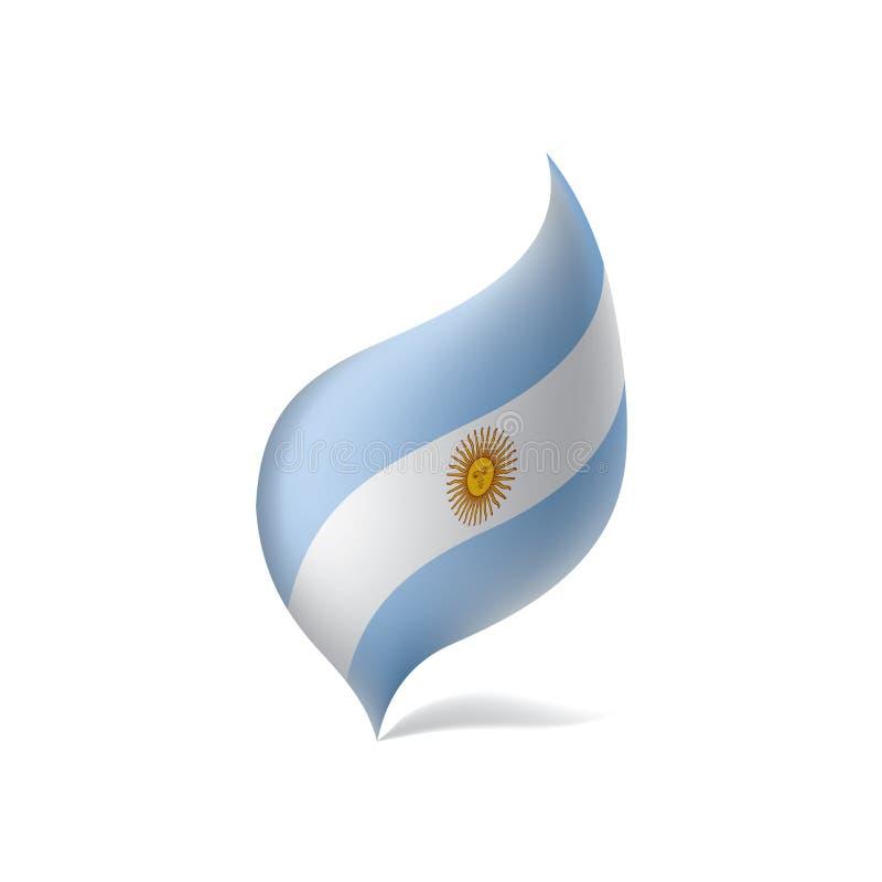 Argentina flagga, vektorillustration stock illustrationer