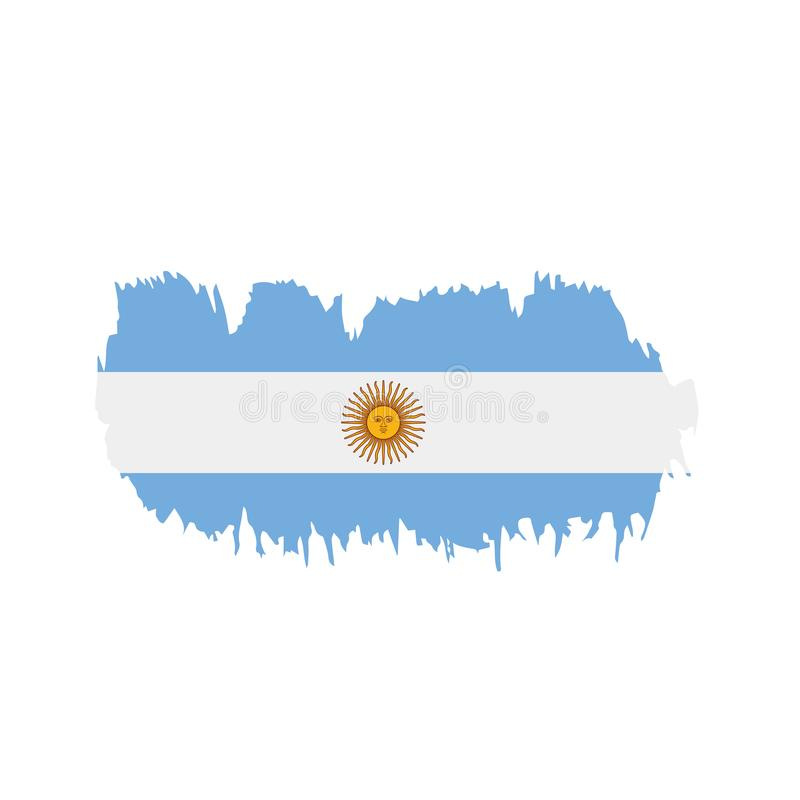 Argentina flagga, vektorillustration royaltyfri illustrationer