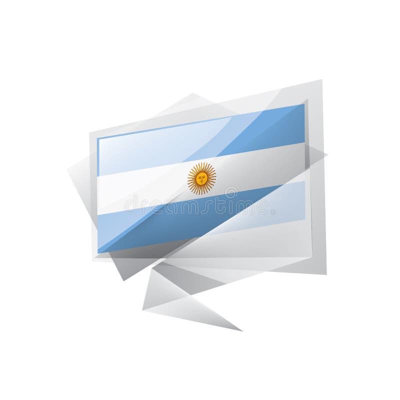 Argentina flagga, vektorillustration på en vit bakgrund vektor illustrationer