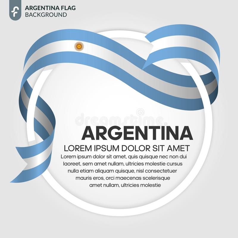 Argentina flaggabakgrund vektor illustrationer