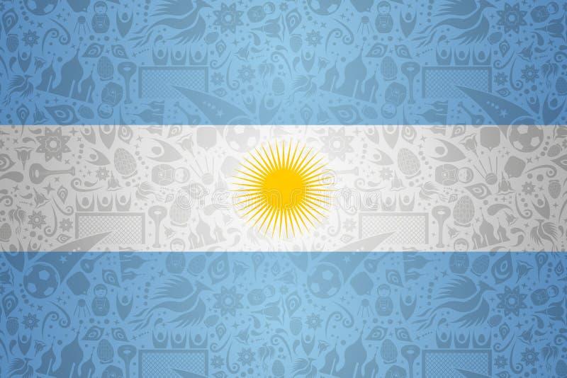 Argentina flaggabakgrund för ryssfotbollhändelse royaltyfri illustrationer