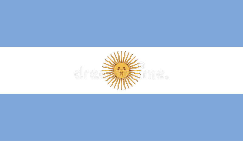 Argentina flaggabild vektor illustrationer