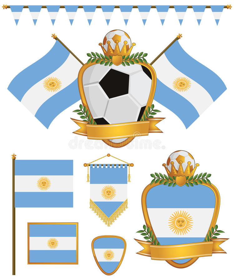Argentina Flags Stock Images