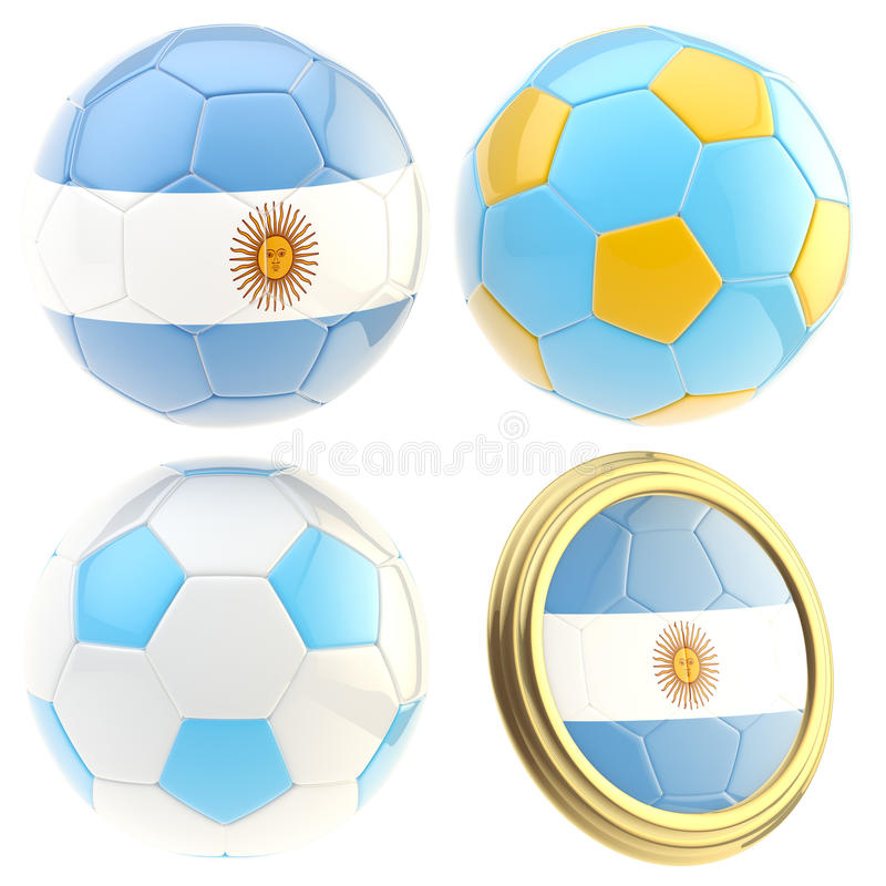 Download Argentina Football Team Attributes Isolated Stock Illustration - Image: 24685025