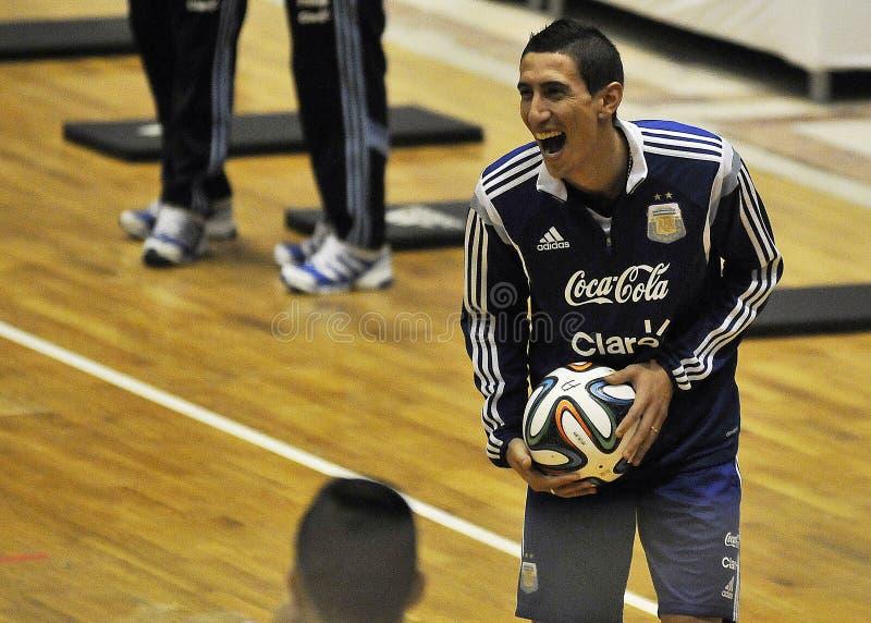 Argentina football training stock photography