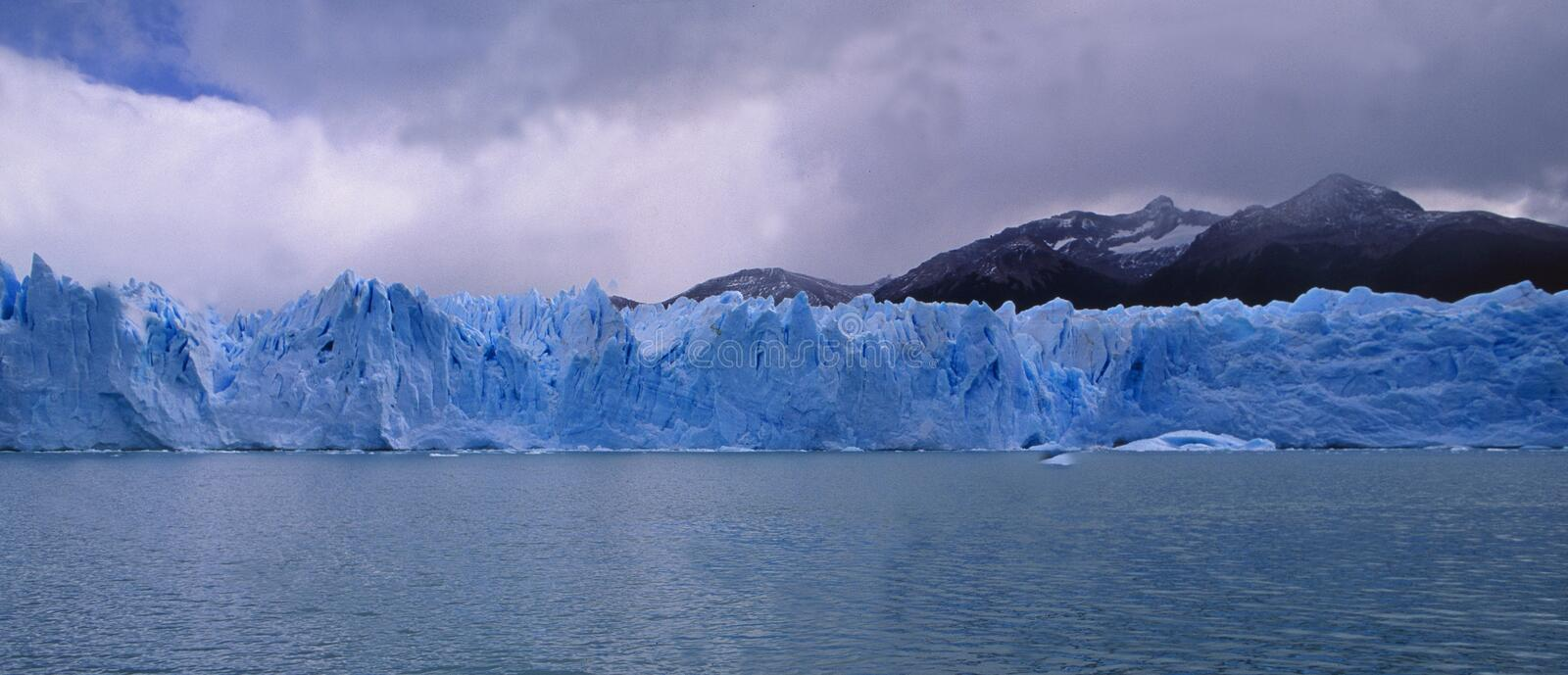 Argentina: The Glacier Perito Moreno at Lago Argentino in Patagonia. Is one of the very few around the world which is not melting so far stock image