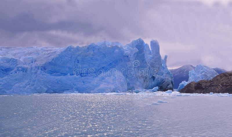 Argentina: The Glacier Perito Moreno at Lago Argentino in Patagonia. Is one of the very few around the world which is not melting so far royalty free stock photos
