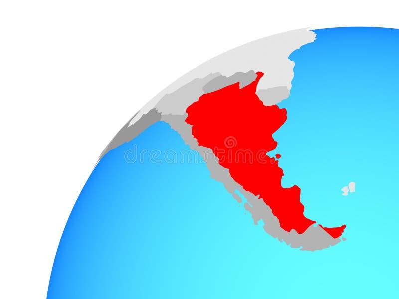 Argentina on globe. 3D illustration royalty free illustration