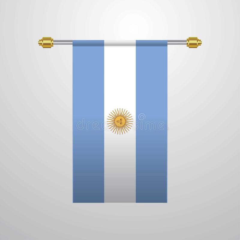 Argentina hanging Flag. This Vector EPS 10 illustration is best for print media, web design, application design user interface and infographics with well stock illustration