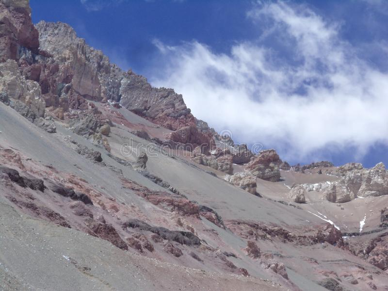 Argentina - Famous peaks - Hiking in Cantral Andes - Peaks around us. Argentina - Hiking in Central Andes -Famous Peaks - Peaks around us stock photography
