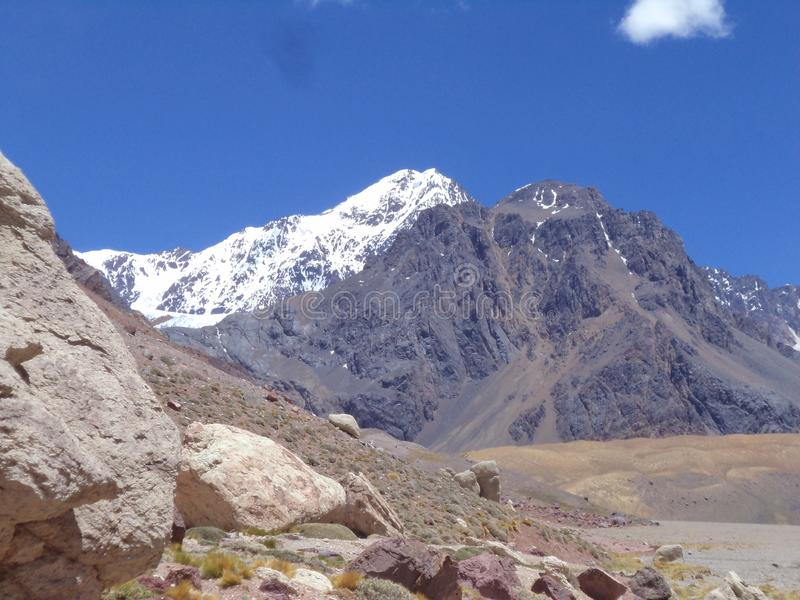Argentina - Famous peaks - Hiking in Cantral Andes - Peaks around us. Argentina - Hiking in Central Andes -Famous Peaks - Peaks around us royalty free stock image