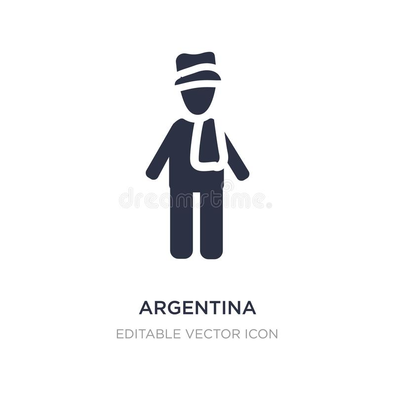argentina icon on white background. Simple element illustration from People concept vector illustration