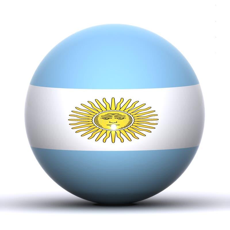 argentina jordklot stock illustrationer