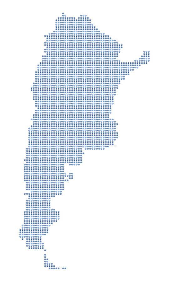 argentina kropek mapa ilustracji