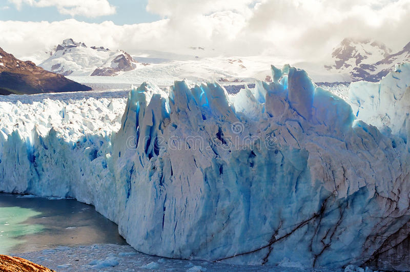 argentina lodowa Moreno patagonia perito fotografia stock