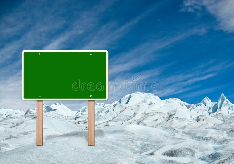 argentina lodowa Moreno patagonia perito ilustracja wektor