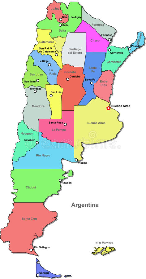 Argentina Map Stock Photo Image - Argentina map cordoba