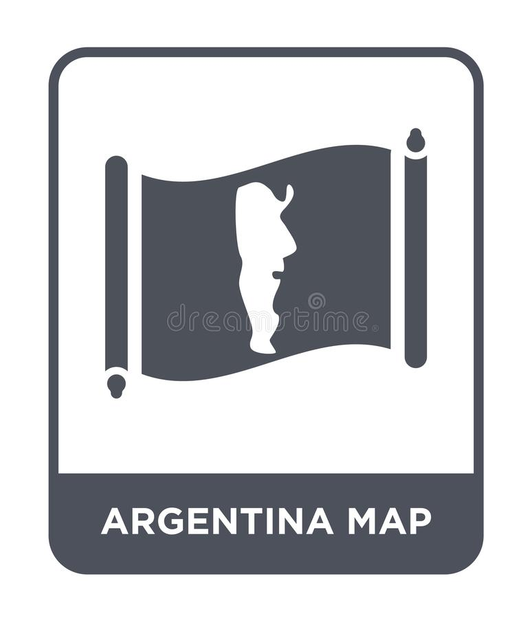 Argentina map icon in trendy design style. argentina map icon isolated on white background. argentina map vector icon simple and. Modern flat symbol for web royalty free illustration