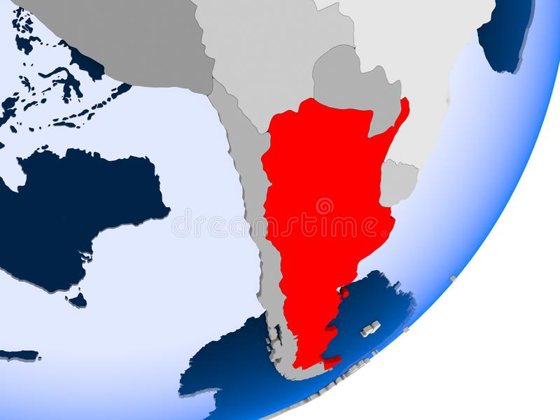 argentina mapa royalty ilustracja