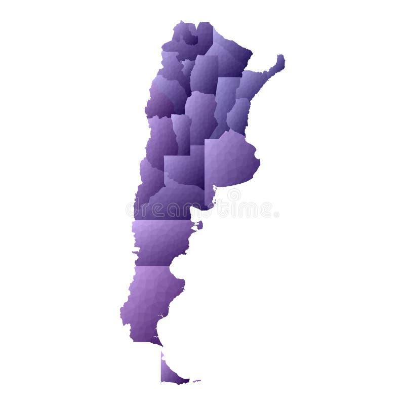 argentina mapa ilustracji