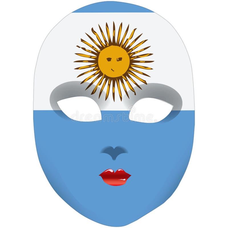argentina maska ilustracji