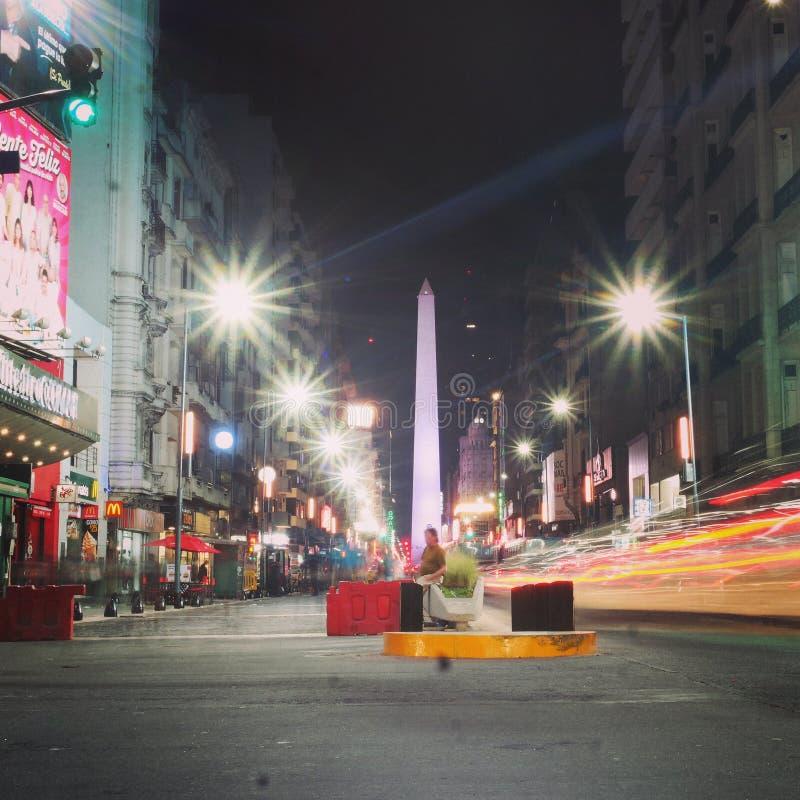 Argentina na noite foto de stock royalty free