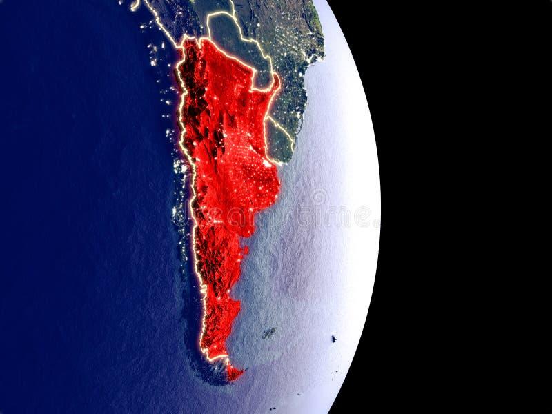 Argentina na terra da noite ilustração royalty free