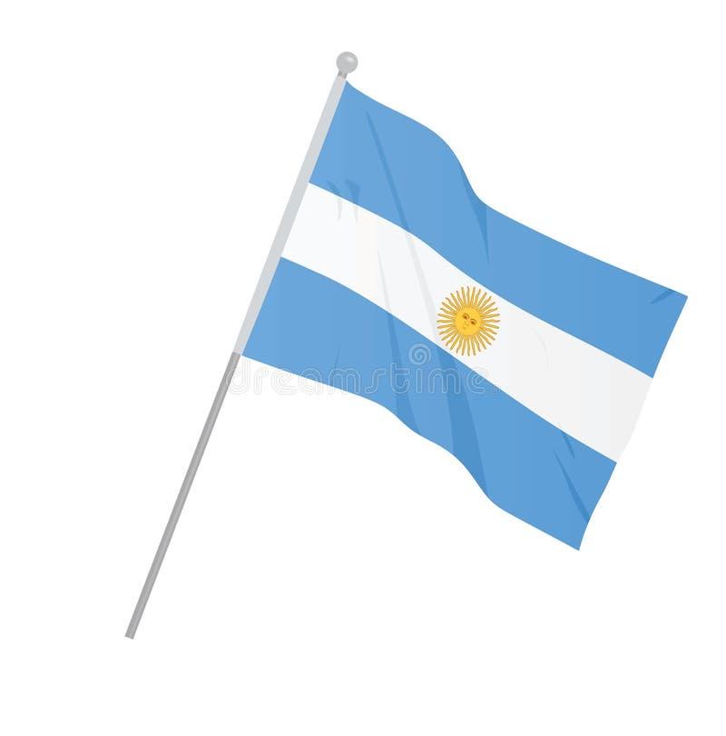 Argentina national flag royalty free illustration