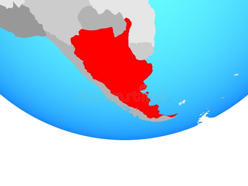 Argentina no globo ilustração do vetor