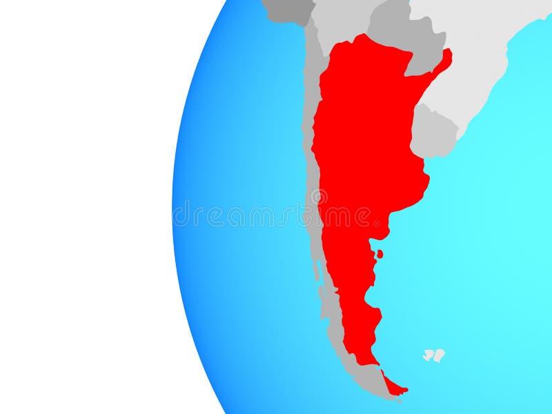 Argentina no globo ilustração royalty free