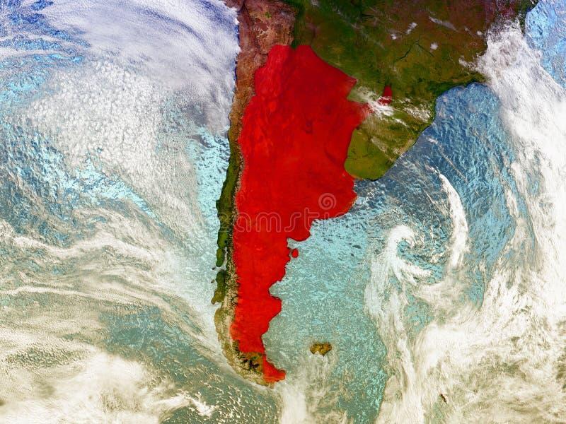 Argentina no globo ilustrado ilustração royalty free
