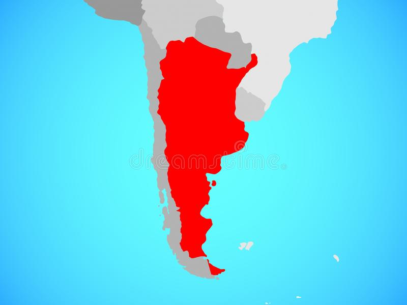 Argentina no mapa ilustração do vetor